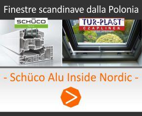Finestre scandinave schuco dalla Polonia