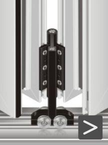 Finestre in alluminio - sistema a libro